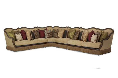 victorian sectional sofa sectional sofa victoria palace aico living room furniture