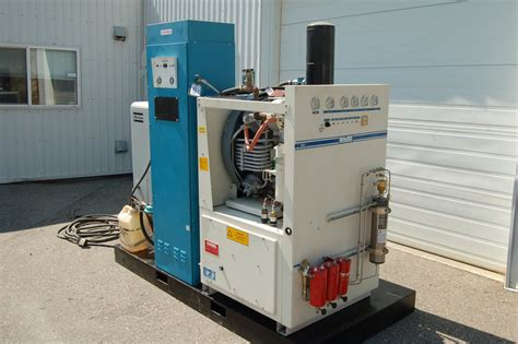 11293 on site nitrogen generator package c w feed air and booster compressor used compressors