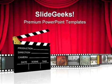 themes in film clap board nature powerpoint templates and powerpoint