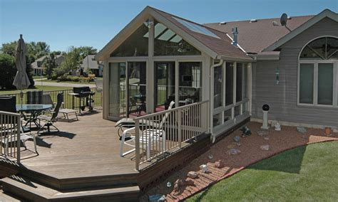 Sunroom On A Deck by Patio Enclosures Sunroom Traditional Deck Milwaukee