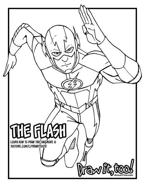 flash coloring pages the flash the cw tv series tutorial version two draw