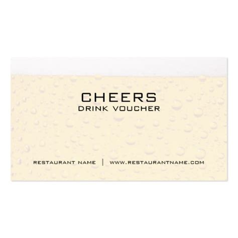 coupon business card template drink voucher and coupon cards business card