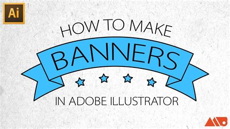 design large banner in illustrator adobe illustrator tutorial how to make banners ribbons