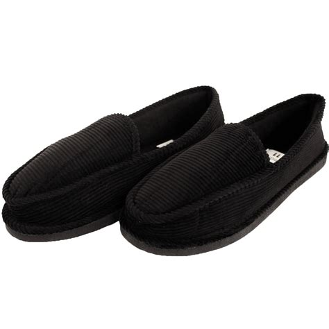 house shoes slippers mens slippers house shoes corduroy color slip on moccasin comfort indoor outdoor ebay