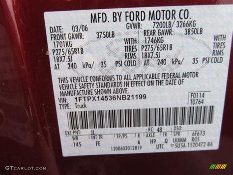 2006 f150 color code jl for toreador metallic photo 61723758 gtcarlot