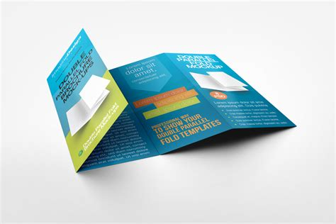 parallel fold brochure template parallel fold brochure mock up by idesignstudio net