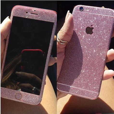Glitter Skin Iphone 6 6s Green pink glitter decal for iphone 6 6s ciara o doherty