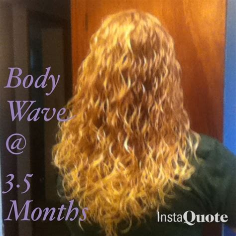before and after of perms on thin hair a body wave on fine hair 3 5 months after the perm