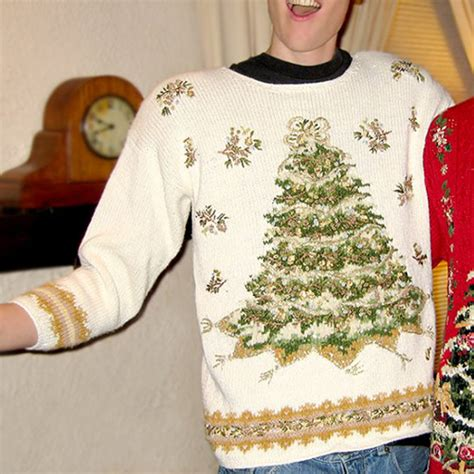 big white christmas tree tacky ugly christmas sweater
