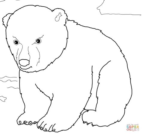 coloring page bear cub when printing you can try choosing landscape layout for