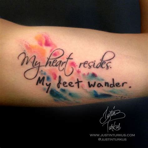 watercolor lettering tattoo watercolor quote tattoo by justin turkus justin turkus