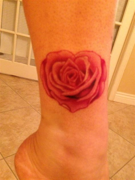 heart shaped rose tattoo tattoo pinterest heart