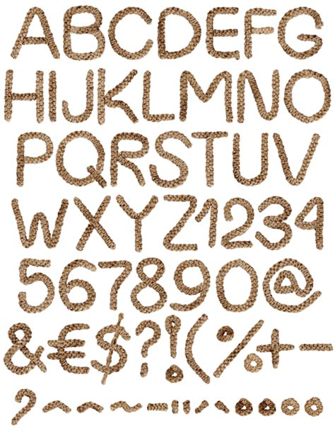 rope pattern font buy weaving rope font to put your design ideas together