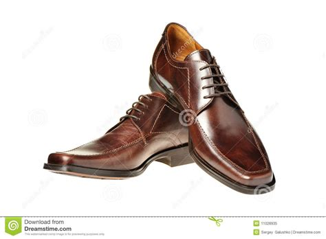 Shoe Photos by Pair A Shoe A Brown Leather Royalty Free Stock Photo