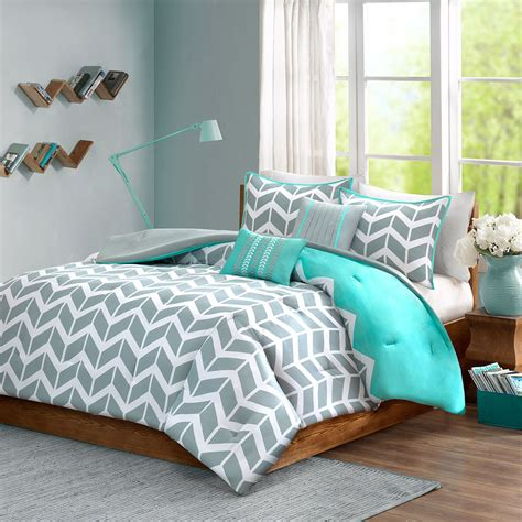 aqua blue comforter sets blue grey aqua teal chevron stripe zig zag geometric