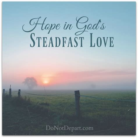 In God S in god s steadfast do not depart