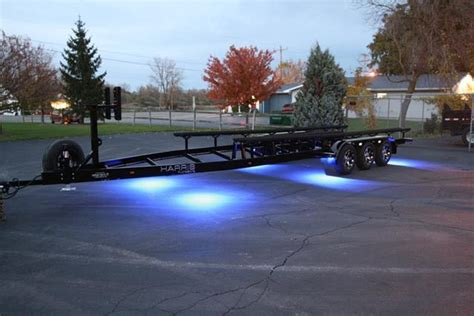 boat trailer lights in water pontoon trailer with rigid underwater lights loadmaster