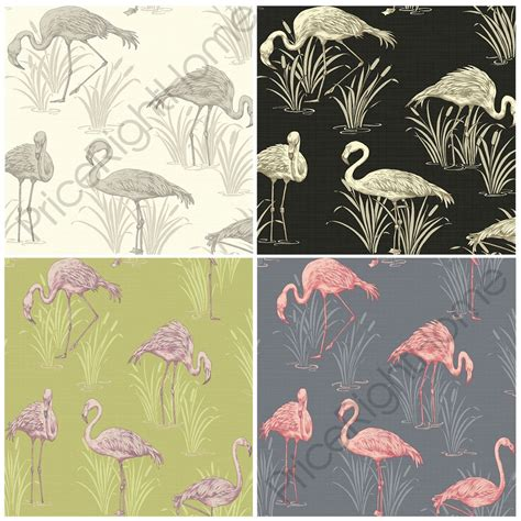 flamingo wallpaper ebay arthouse vintage lagoon flamingo wallpaper 5 colours