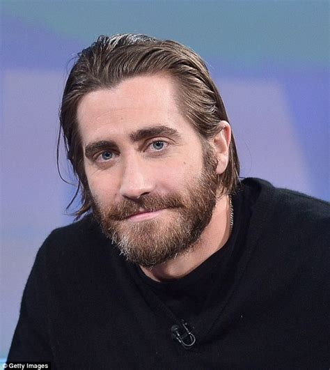 slick hair tv jake gyllenhaal styles his trademark slicked back locks