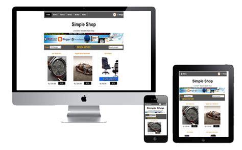 template toko online simple 5 template blogspot toko online terbaik dan gratis