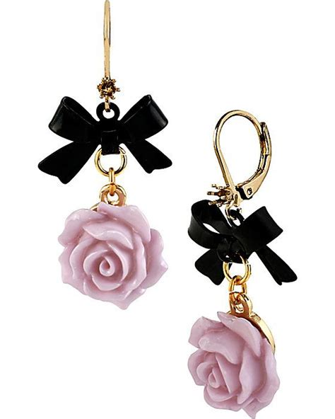 Purple Accessories Fabulous fabulous flowers bow earring purple accessories jewelry