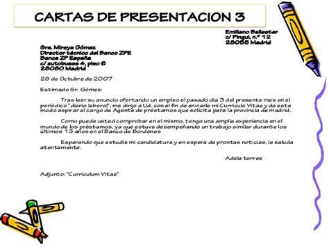 Modelo De Carta De Presentación De Un Curriculum La Carta De Presentaci 243 N Y Modelos Teoria