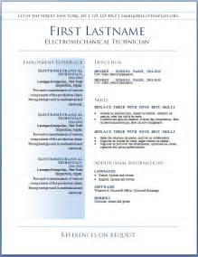 resume template best free resume cv template