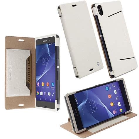 Krusell Flip Malmo Stand Sony Xperia T3 White sony xperia z3 leather malmo flipcover stand white