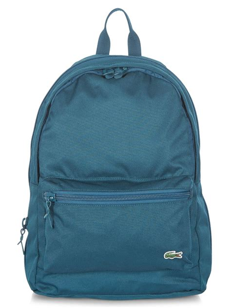 Plain Backpack lyst lacoste plain backpack in blue for