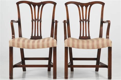 set of six chippendale style antique dining chairs 19th