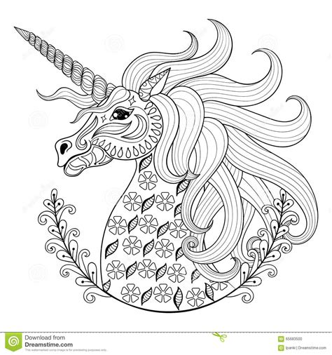 coloring pages of unicorns for adults hand drawing unicorn adult anti stress coloring pages