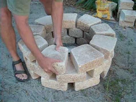 how to make a simple fire pit in your backyard easy fire pit build youtube