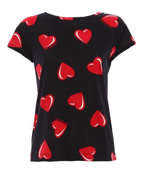 Heart Pattern Shirt | heart pattern t shirt by love moschino t shirts ikrix