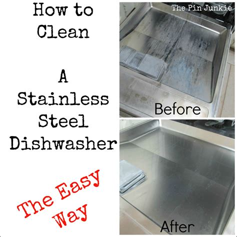 stainless steel dishwasher how to clean a stainless steel dishwasher door