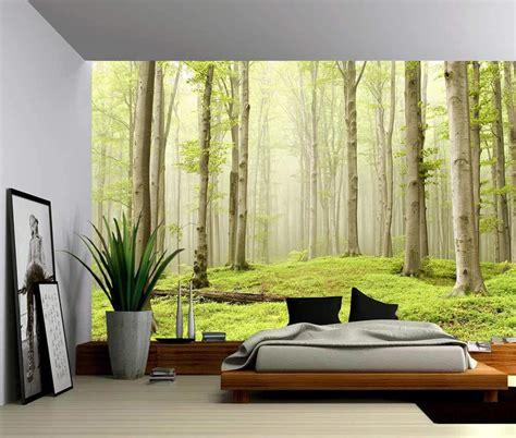 landscape foggy spring forest  adhesive vinyl