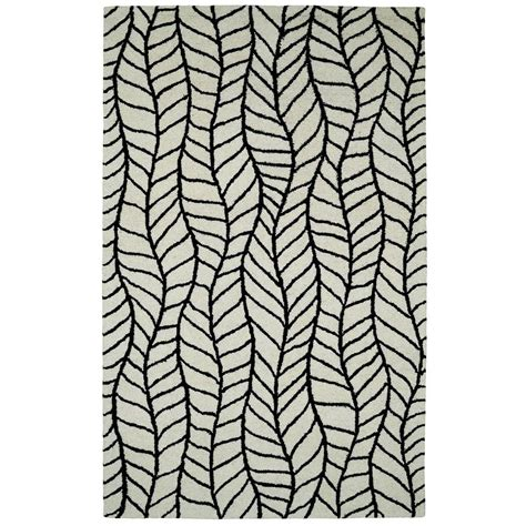 10 x 14 black and white rug dynamic rugs palace black white 10 ft x 14 ft indoor