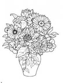 Galerry coloring page of flower vase
