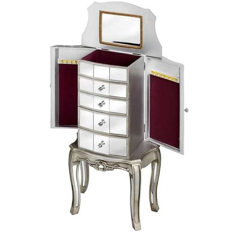 Mirrored Jewellery Armoire by Range Mirrored Jewellery Armoire Melody Maison 174