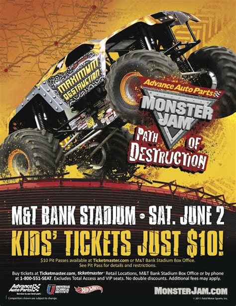 monster truck jam baltimore advance auto parts monster jam 174 path of destruction hits m