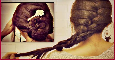 plaiting hair using chopsticks how to french braid your own hair tutorial romantic updo