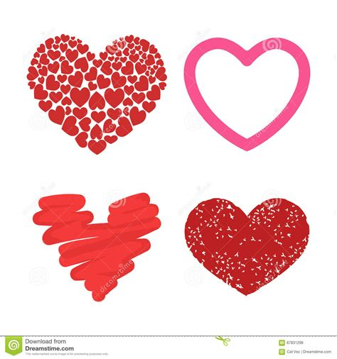 B5 Styles Beautiful Valentines by Differents Style Vector Icon Day