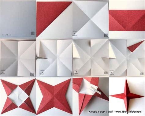 tutorial origami natalizi countdown natale facciamo la stella a 4 punte e 3d