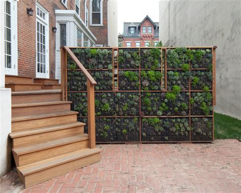 Vertical Garden Screen Green Contemporary Patio Philadelphia By