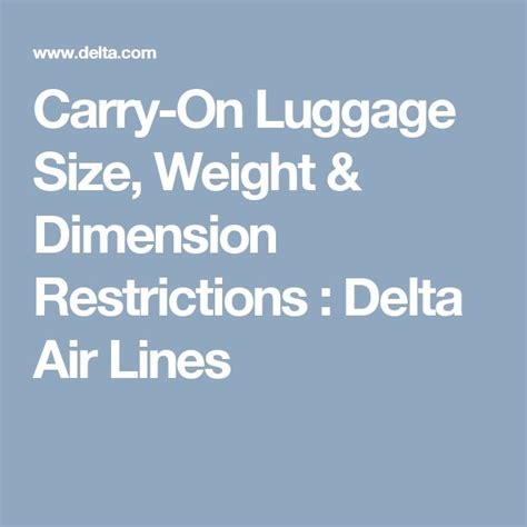 1000 Ideas About Airline Carry On Size On Pinterest | carry on rules rules of flying carry ons carrying