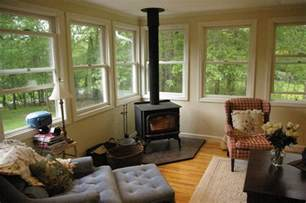 enclosed porch plans woodstove in sunroom wood stove ideas pinterest the