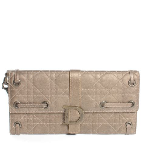 Vinyl Cannage D Clutch by Christian Leather Cannage Quilted D Clutch Wristlet