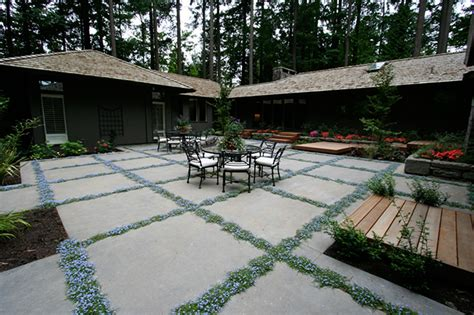 Covering Concrete Patio by Laycock Gardens Llc