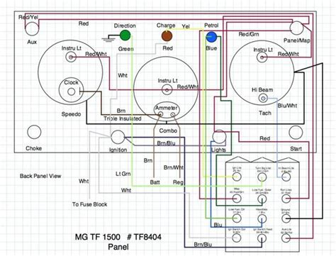 mg tf wiring diagram t series prewar forum mg