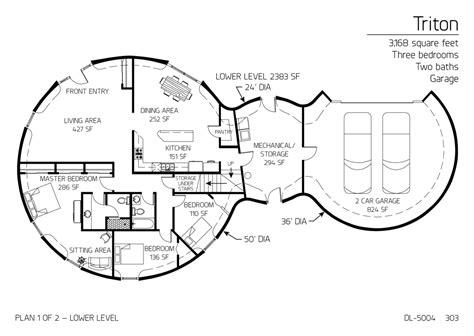 floor plans multi level dome home designs monolithic floor plan dl 5004 monolithic dome institute