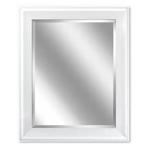 Bathroom Mirrors White Shop Allen Roth 24 In X 30 In White Rectangular Framed Bathroom Mirror At Lowes